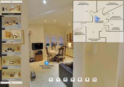 Wirtualna wycieczka Apartament Dwóch Róż