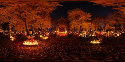 Katowice cmentarz ul.Francuska kaplica
